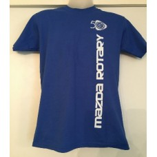 1 COLOUR (BLUE) PRINT 50TH ROTARY ANNIVERSARY T-SHIRT